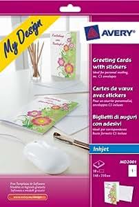 Avery Lot de 10 cartes de voeux