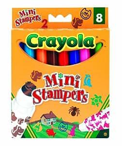 Crayola - 03.8125 - Loisir Créatif - 8 Feutres Mini-Stampers : Animaux