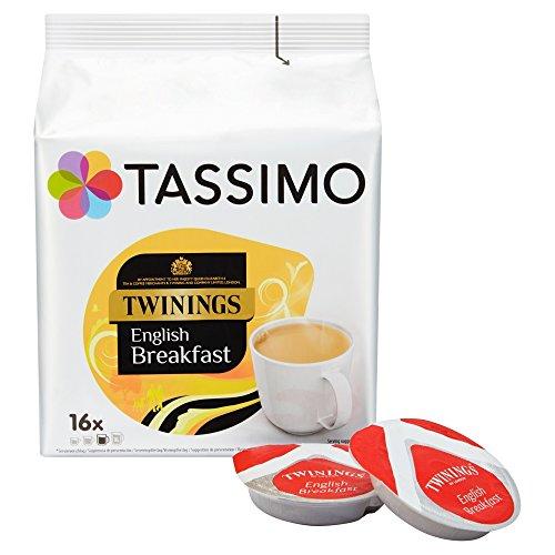 Tassimo Twinings English Breakfast Tee, Schwarzer Tee, Schwarztee, Kapsel, 5 x 16 T-Discs
