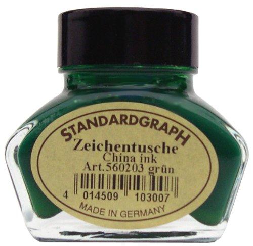 Tusche grün 30ml Glas