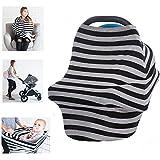 Mehrzweck-Decke aus Bio-Baumwolle, Lycra, zum Stillen, für Babys, fürs Auto, Abdeckung, Überdachung, für Einkaufswagen, Bezug, zum Wickeln, Decke für Säuglinge, Neugeborene, Kleinkinder, Geschenk für Babyparty
