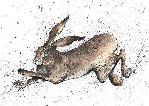 braun Hase Gruß Karte hergestellt aus ein ORIGINAL MALEREI VON CLARE brownlow. gedruckt auf hochwertig Künstler Karte Briefumschlag enthalten Blank auf der Innenseite für jede Nachricht