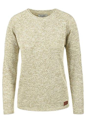 BlendShe Daniela Damen Strickpullover Feinstrick Pullover Mit Rundhals Und Melierung, Größe:S, Farbe:Bone White (70016)
