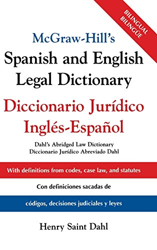 McGraw-Hill's Spanish and English Legal Dictionary: