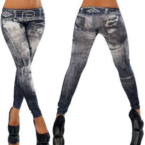 G087 Damen Hose Leggings Röhre Jeggings Treggings Strech Jeans Look,  Größen Einheitsgröße Modell d5a4a0354f
