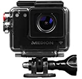 MEDION LIFE S89038 Action Kamera mit WIFI, Full HD, 142° Weitwinkel, wasserdicht, Zubehörpaket,...