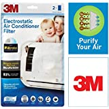 3M Filtrete Anti Pollution Filter for converting AC into air Purifier (White, 2 Pieces)