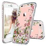 MOSNOVO Coque iPhone 6S Plus, Coque iPhone 6 Plus, Jardin Floral Flower Blossom Fleur Clair Design Motif Arrière avec TPU Bumper Gel Coque de Protection pour iPhone 6 Plus / 6S Plus (Floral Garden)