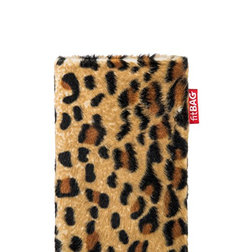 fitBAG Bonga Dalmatien housse pochette pour téléphone portable en imitation fourrure intérieur en microfibres pour Apple iPhone 6 Plus / iPhone 6S Plus 5.5 inch avec Apple Silicon Case Bonga Léopard