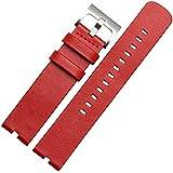 WayIn® De cuero correa de reloj de la venda para Motorola Moto 360 (primera generación) SmartWatch 22mm Moto 360 hombres del reloj de venda de 46mm (Rojo)