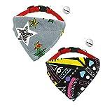 Fully 2er/Set Halsschal Bib Kragen mit Glocke Halstuch Halsschmuck Dreieck Halsband für Hunde Katze Verstellbar (zufällig, Größe S: Halsumfang: 24-30cm/9.44-11.81