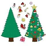 Ehugos Albero di Natale Feltro Dell'albero di Natale Set 28 Ornamenti Rimovibile DIY per i Regali di Natale Porta Arazzo Decorazione della Parete dei Bambini - 3.2FT