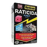 Quimunsa - Raticida en Bloque 200g Veneno Ratones, Ratas y roedores