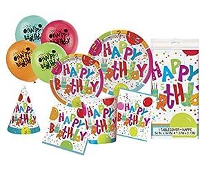 Unique Party- Party Kit, Multicolor (63808)