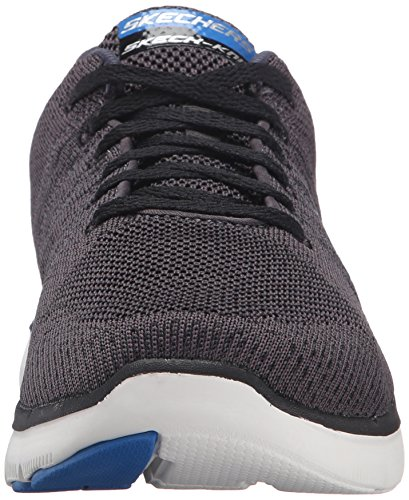 Skechers Flex Advantage 2.0 Golden Point, Baskets Basses Homme Noir