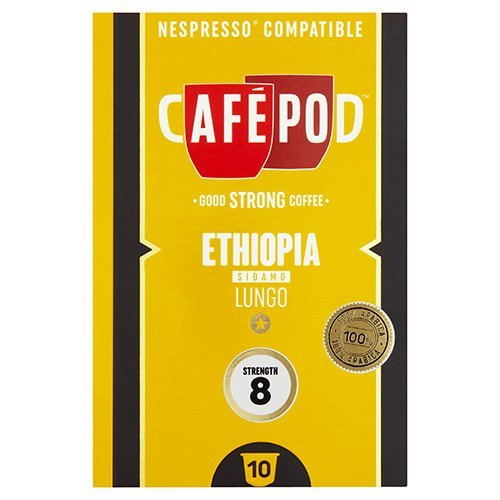 Buy CafePod Ethiopia Pack Of 10 Nespresso Compatible Coffee Capsules - CafePod
