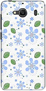 The Racoon Grip printed designer hard back mobile phone case cover for Xiaomi Redmi 2. (flowers an)