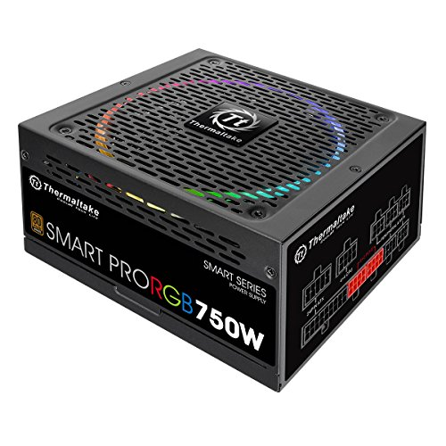 Thermaltake Smart Pro RGB Alimentatore da 750 W, Modular 80+ Bronze, Nero