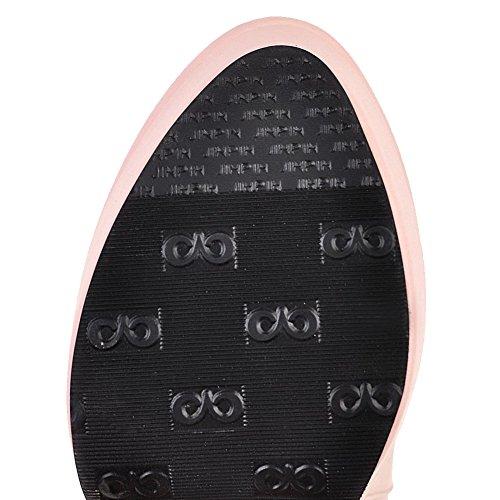 Scarpe Disegna Rosa Donna Ciondolo Tondo Tacco Alto Agoolar Con vxvq1Xfw