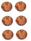6 Stück Neustanlo® Grillteller/Brotzeitbrettchen Ø 25 cm aus Akazien Holz