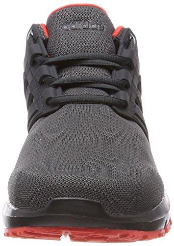 adidas Damen Energy Cloud 2 W Laufschuhe Grau (Carbon S18/carbon S18/hi-res Red S18 Carbon S18/carbon S18/hi-res Red S18)