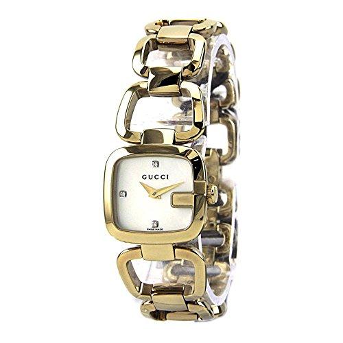 Gucci YA125513–Montre Bracelet pour Femme, Bracelet en Acier Inoxydable Couleur Or
