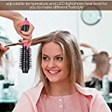 Semme One-Step 2-In-1 Multifunction Negative Ion Straightener Curler Curling Brush Hot Air Comb Auto Rotating Styler Tool for All Hair Types