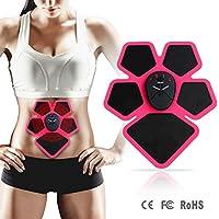 Electroestimulador Muscular Abdominales Cinturón,Masajeador Eléctrico Cinturón,EMS Ejercitador del Cuerpo de los Músculos de Brazos y piernas para Hombre Mujer