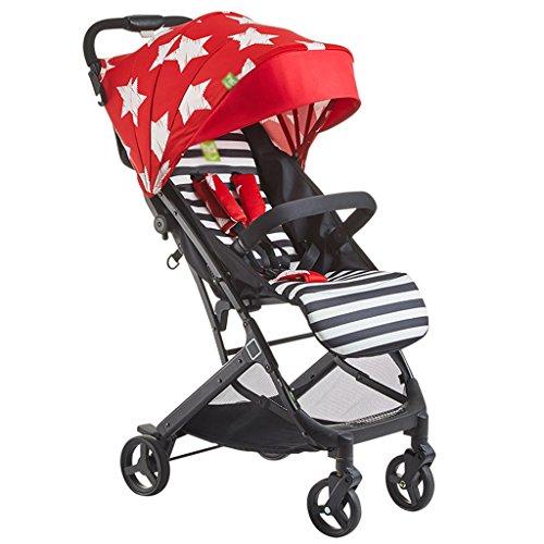 ERRU- Haut Paysage Poussette bébé   peut être assis ou allongez-plié bébé  multi f963f7fae6b