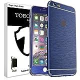 Metal pulido Full Body Skin adhesivo Vinilo de aluminio para para iPhone, polvo–resistente al agua–oilproof y huellas evitar, azul, for iPhone 6 Plus/6S Plus
