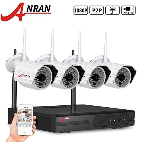 ANRAN HD 4canali 1080p NVR Funk š ¹ berwachungssystem con 4HD WiFi Outdoor IP di rete AU?En š ¹ berwachungskamera senza disco