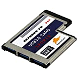 BlueBeach® 3 USB 3.0 Port Superspeed PCMCIA Express Karte 54mm für Notebook Laptop / Windows 7 + Windows 8 kompatibel
