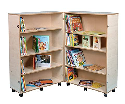 Twoey Educational Resources Four Shelf Hinged Bookcase in Maple
