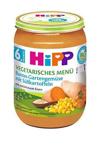 HiPP Buntes Gartengemüse mit Süßkartoffeln, 6er Pack (6 x 190 g)