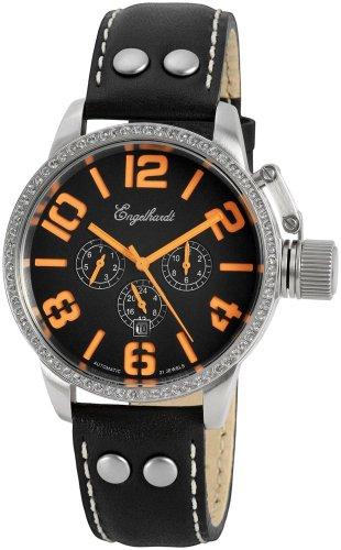 Engelhardt Herren-Armbanduhr Automatik Leder 10.590 387722229012