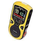 Prince 100F - Oxímetro de Pulso de Mano con mediciones en Tiempo Real, sonda de Dedo Externa, Funciones de revisión y Almacenamiento de Datos avanzado, Color Amarillo, oxímetro Prince 100f