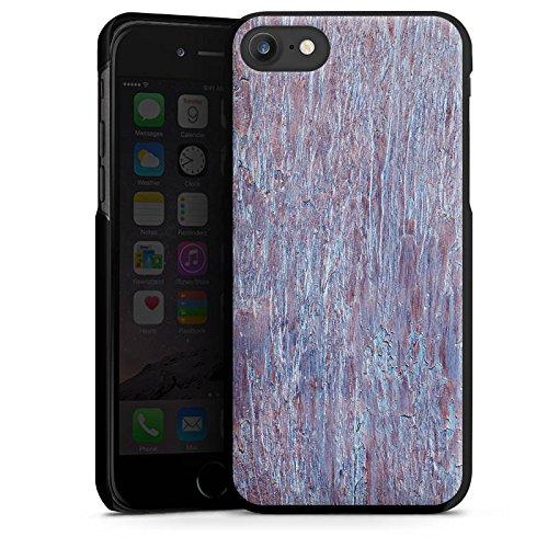 Apple iPhone X Silikon Hülle Case Schutzhülle Holz Perlmutt Muster Hard Case schwarz