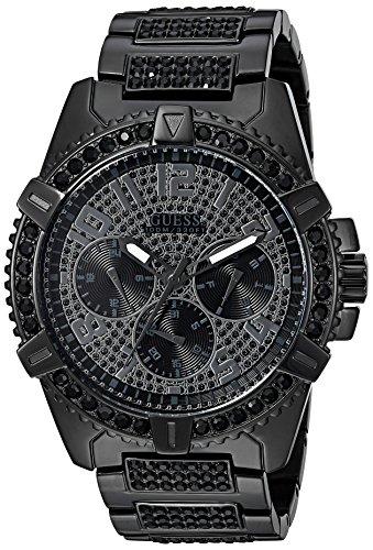 Guess orologio da uomo in acciaio INOX e cristalli, colore: Nero (Model: U0799G5)