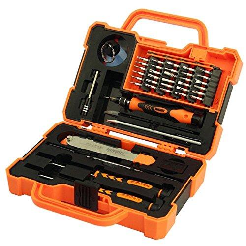 Kungfu Mall JM-8139 45in1 Mehrbit-Schraubendreher-Kit mit Spudger-Pinzette für die Reparatur von Elektronik