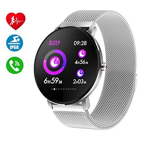 Smartwatch per Uomo Donna,IP68 Impermeabile Bluetooth Orologio Intelligente...