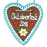 Lebkuchen Herz - 18cm - Oktoberfest 2018 - bekannt von der Wiesn, Volksfest, Oktoberfest