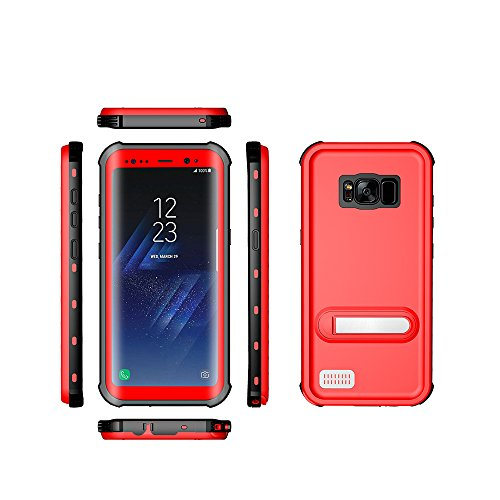 Samsung Galaxy S8Plus Wasserdichte Schutzhülle, Ultra Leicht, Wasserdicht stoßfest schmutzfest Tauchen Handy Fall für Samsung Galaxy S8Plus, Rot Plus-handy-fall