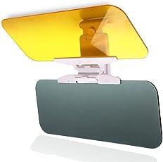 Auto Blendschutz, BODECIN Sonnenblende Verlängerung, Auto Tag und Nacht Anti-Glare Visier, 2 in 1 Premium Qualität Universellen Sonnenschirm und Nachtsicht Anti-Dazzle Windschutzscheibe Treibende Brille mit Einstelltaste