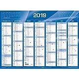 Quo Vadis - 1 Calendrier de banque bleu - Année 2019- 135 x 180 mm