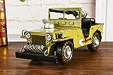 AT Collection Schmiedeeisen Willis Jeep Handgemachte Modell Sammlerkunst Skulptur Für Wohnkultur Auto Liebhaber Kreative Schreibtisch Tischdekoration Ornamente