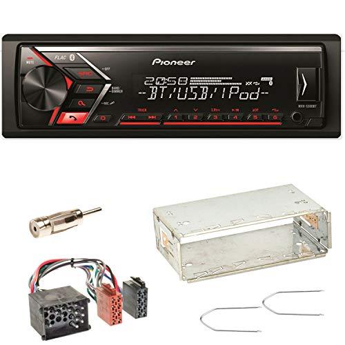Pioneer MVH-S300BT Autoradio USB AUX 1-DIN MP3 Bluetooth WMA Einbauset für BMW 3er E36 Z3