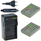 ChiliPower Canon NB-5L Kit: 2x Batterie (1100mAh) + Chargeur pour Canon Powershot S100, S110, SD700 IS, SD790 IS, SD800 IS, SD850 IS, SD870 IS, SD880 IS, SD890 IS, SD900 IS, SD950 IS, SD970 IS, SD990 IS, SX200 IS, SX210 IS, SX220 IS, SX230 HS