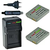 2x Batería + Cargador ChiliPower Canon NB-5L 1100mAh para Canon Powershot S100, S110, SD700 IS, SD790 IS, SD800 IS, SD850 IS, SD870 IS, SD880 IS, SD890 IS, SD900 IS, SD950 IS, SD970 IS, SD990 IS, SX200 IS, SX210 IS, SX220 IS, SX230 HS