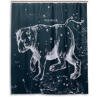 Tenda da doccia 152,4x 182,9cm, Fantasy grafico costellazione Ursa Major, a prova di muffa poliestere tessuto bagno tenda