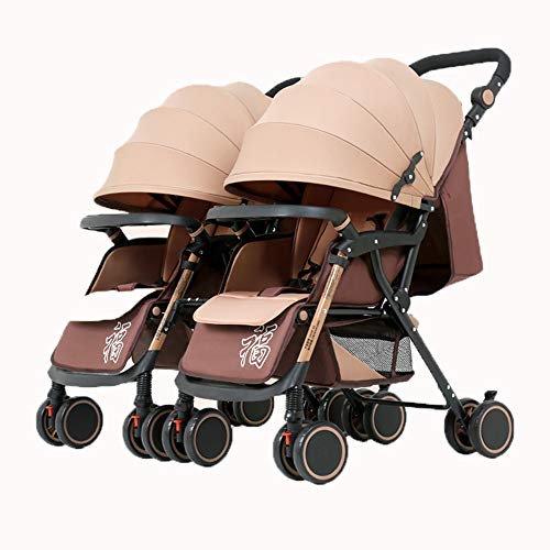 Lnyy Zwillingskinderwagen Buggy kann aufgespalten das zweirädrige Fahrzeug Stoßdämpfern kann sitzen oder Liege